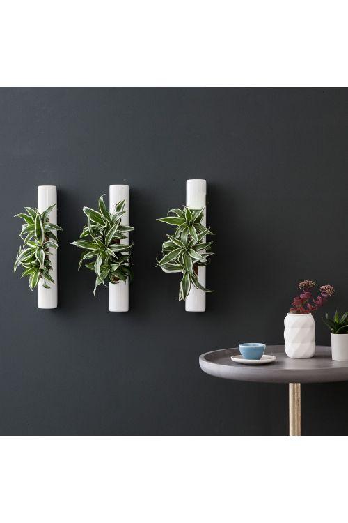 3er-Set Tube - weiß - 40x6,5 cm