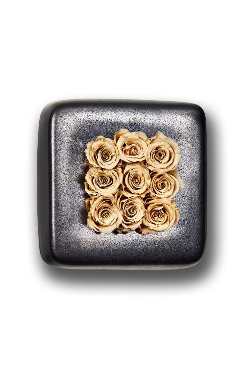 Infinity-Bloom Chest - anthrazit/champagne - 16x16 cm