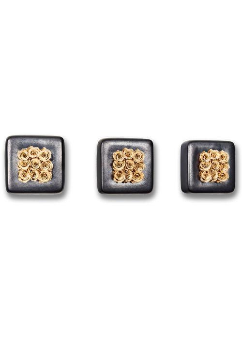 3er-Set Infinity-Bloom Chest - anthrazit/champagne - 16x16 cm